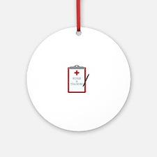 Nurse In Training Round Ornament