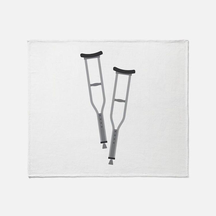 Crutches Throw Blanket