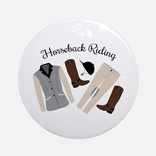 Horseback Riding Round Ornament