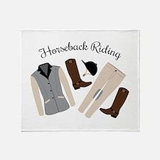 Horseback Riding Throw Blanket