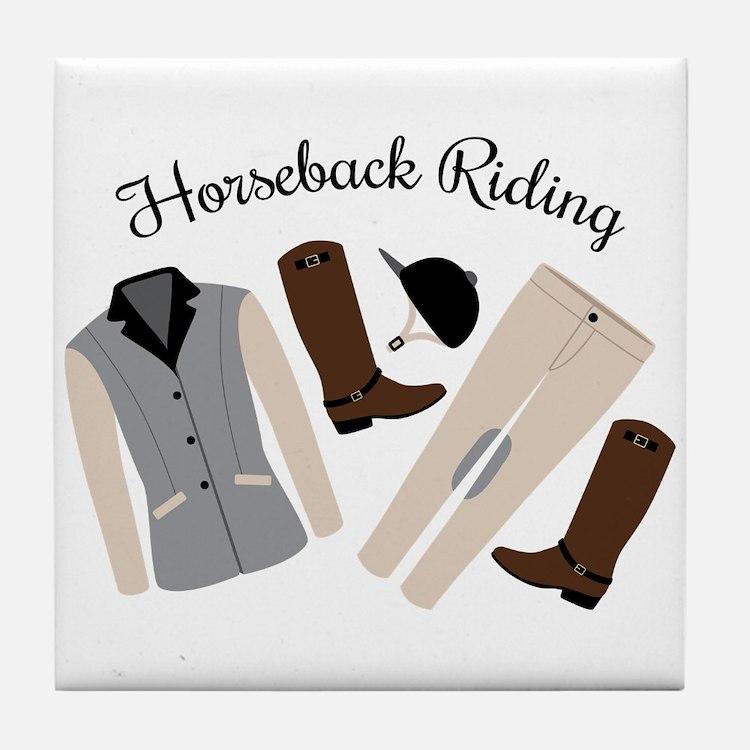 Horseback Riding Tile Coaster