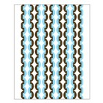 Brown and Blue Stripes Small Poster