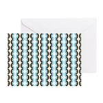 Brown and Blue Stripes Greeting Card