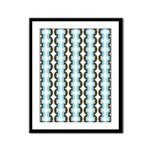 Brown and Blue Stripes Framed Panel Print
