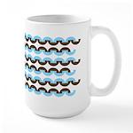 Brown and Blue Stripes Large Mug (15 oz)