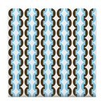 Brown and Blue Stripes Tile Drink Coaster