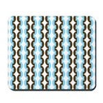 Brown and Blue Stripes Mousepad