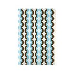 Brown and Blue Stripes Rectangle Magnet