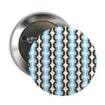 "Brown and Blue Stripes 2.25"" Button (10 pack)"