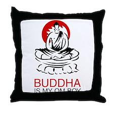Buddha Is My Om Boy Throw Pillow