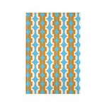 White & Orange Mod Print Rectangle Magnet