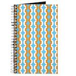 White & Orange Mod Print Journal