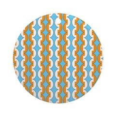 White & Orange Mod Print Ornament (Round)