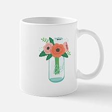 Mason Jar Flowers Mugs