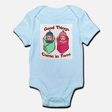 Cute Fraternal twins Infant Bodysuit