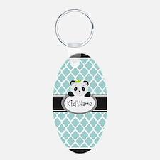 Mint Personalized Panda Bea Keychains