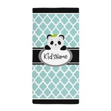 Mint Personalized Panda Bear Beach Towel