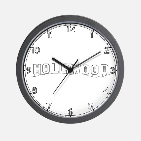 Hollywood Sign, CA Wall Clock