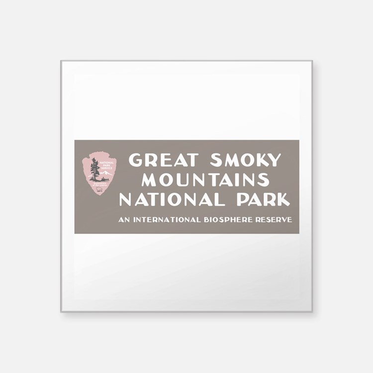 "Great Smoky Mountains Natio Square Sticker 3"" x 3"""