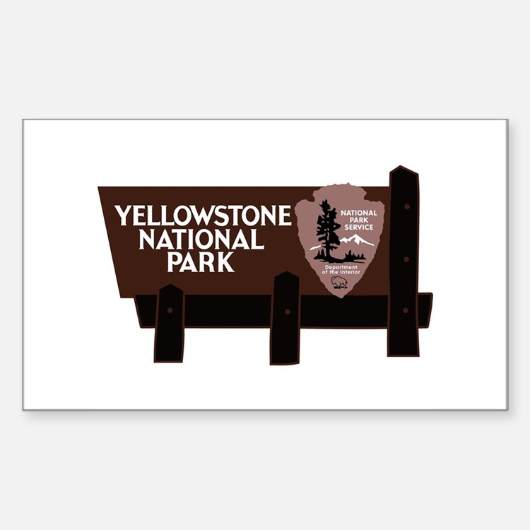 Yellowstone National Park, WY Decal