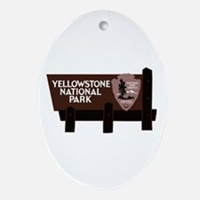 Yellowstone National Park, WY Oval Ornament
