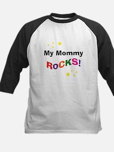 My Mommy Rocks! Kids Baseball Jersey