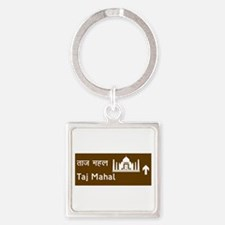 Taj Mahal, India Square Keychain