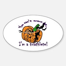 Halloween Triathlete Oval Decal