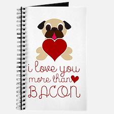 Cute Bacon valentine Journal