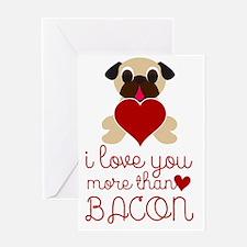 Cute Bacon valentine Greeting Card