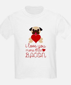 I Love You More Than Bacon Valentine Fawn T-Shirt