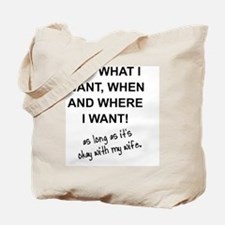 Unique What do we want Tote Bag