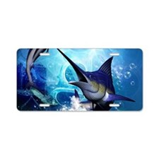 Awesome marlin Aluminum License Plate