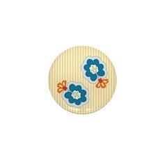 Floral Paisley Retro Mini Button