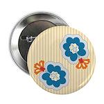 Floral Paisley Retro Button