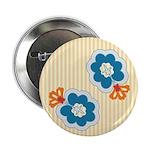 "Floral Paisley Retro 2.25"" Button (100 pack)"