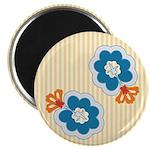 "Floral Paisley Retro 2.25"" Magnet (10 pack)"