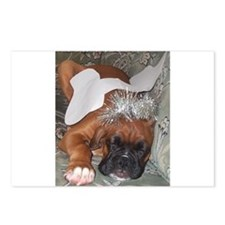 Boxer Dog Christmas Angel Postcards (Package of 8)