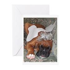 Boxer Dog Christmas Angel Greeting Cards (Pk of 20