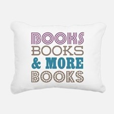 Books and Books Rectangular Canvas Pillow