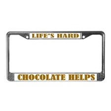 Chocolate Helps License Plate Frame