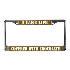 Chocolate Life License Plate Frame