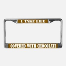 Chocolate Life License Plate Frame
