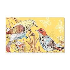 Pretty Birds Car Magnet 20 x 12