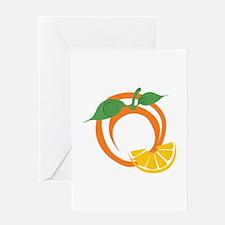 Orange Slices Greeting Cards