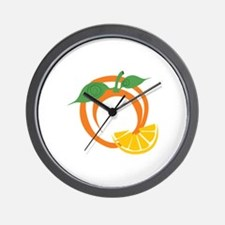 Orange Slices Wall Clock