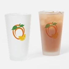 Orange Slices Drinking Glass