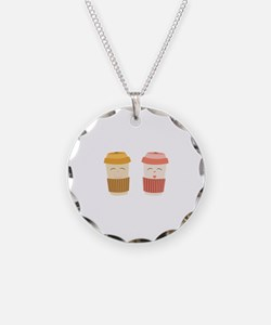 Coffee Cups Necklace