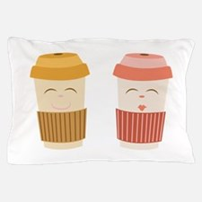 Coffee Cups Pillow Case