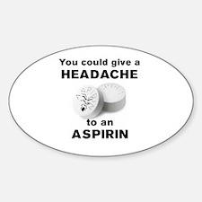 Cute Headache Sticker (Oval)